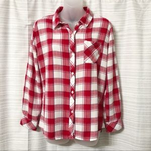 Rails Red Plaid Top Excellent Condition Size Med